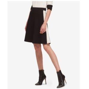 DKNY Pull On A-Line Skirt Black